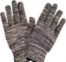 Перчатки трикотажные с пвх 6 нитка Серые