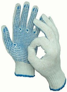 Перчатки трикотажные с пвх 5 нитка 10 класс